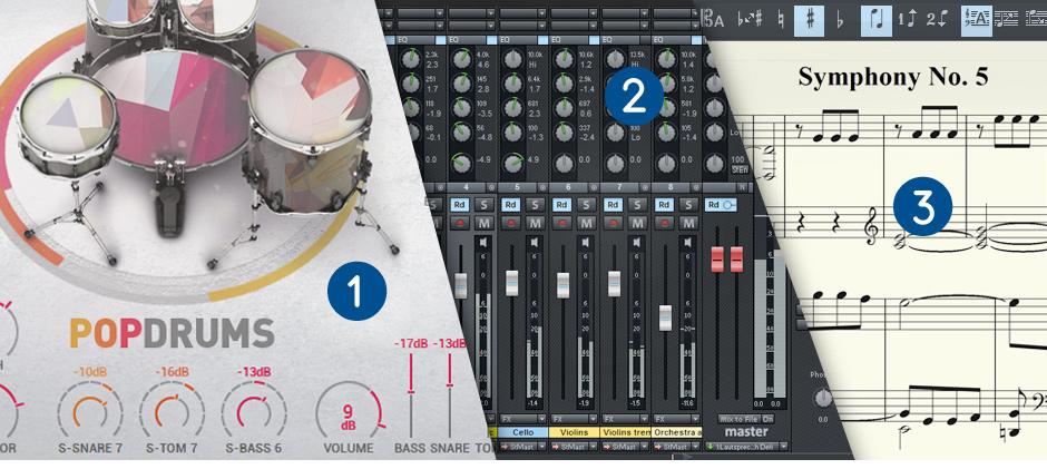 Samplitude Music Studio Screen